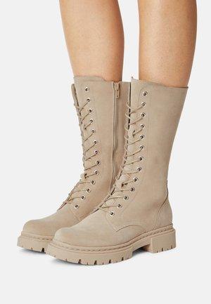 Sansibar Shoes Botas con cordones - beige/beige - Zalando.es