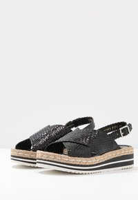 Pons Quintana - Korkeakorkoiset sandaalit - black - 4