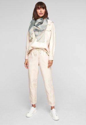 Foulard - beige placed print