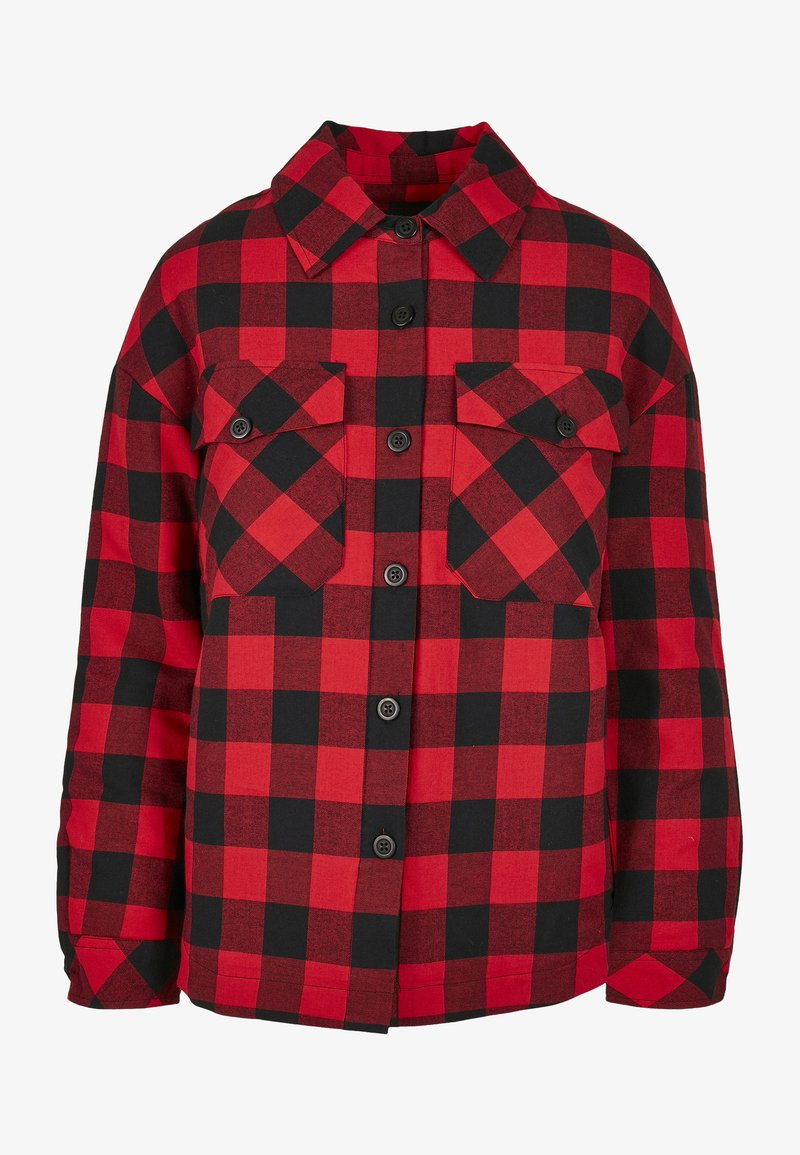 Urban Classics - Button-down blouse - black/red