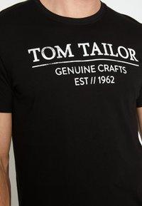 TOM TAILOR - T-shirt print - black - 7