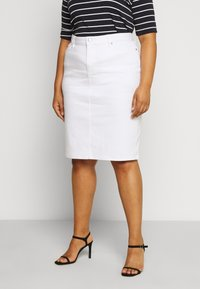 Lauren Ralph Lauren Woman - DANIELA STRAIGHT SKIRT - Pencil skirt - white - 0
