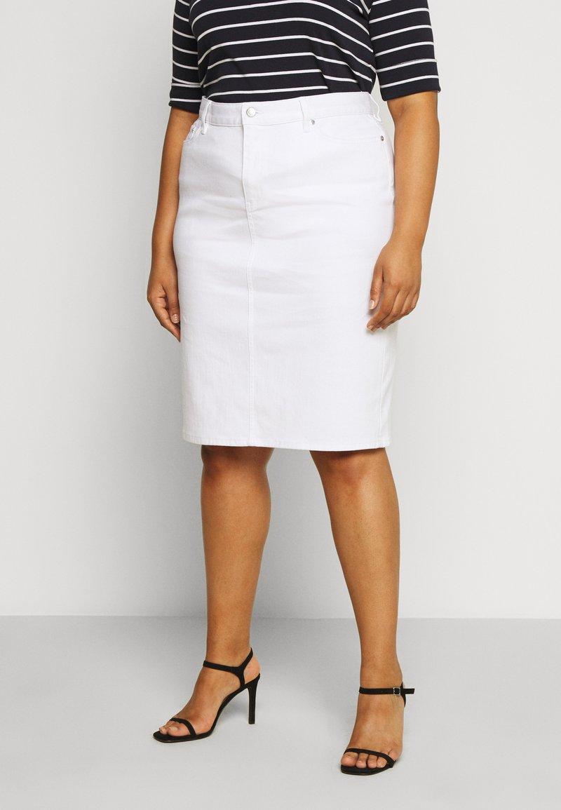 Lauren Ralph Lauren Woman - DANIELA STRAIGHT SKIRT - Pencil skirt - white