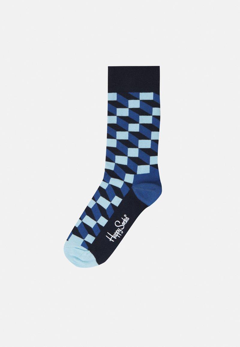 Happy Socks - FILLED OPTIC SOCK UNISEX 2 PACK - Calze - blue/grey