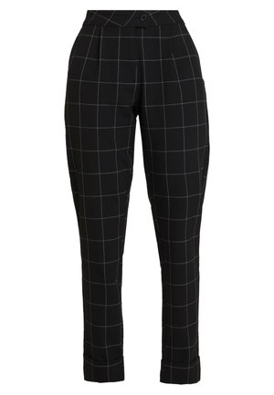 ONLMONIZ CHECK PANT - Trousers - black