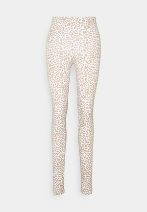 NMKERRY MARBLE  - Leggings - Trousers - bright white/praline