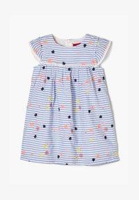 s.Oliver - Day dress - light blue stripes & flowers - 0