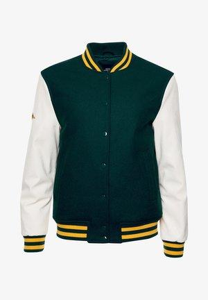 COLLEGE VARSITY - Bomber Jacket - pine