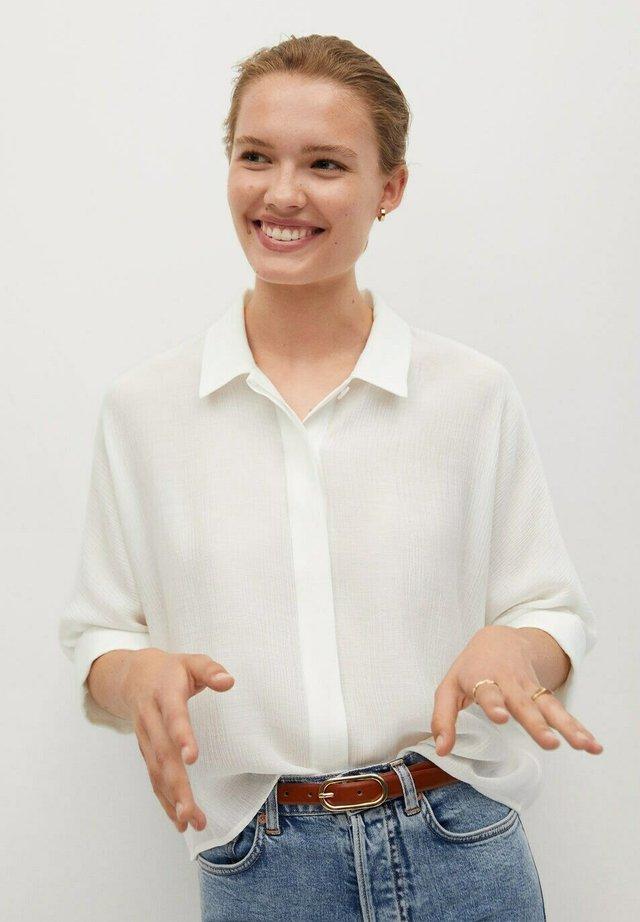 SAM-H - Button-down blouse - blanco roto