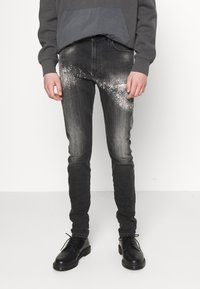 Diesel - D-AMNY-Y-SP4 - Slim fit jeans - washed black - 0