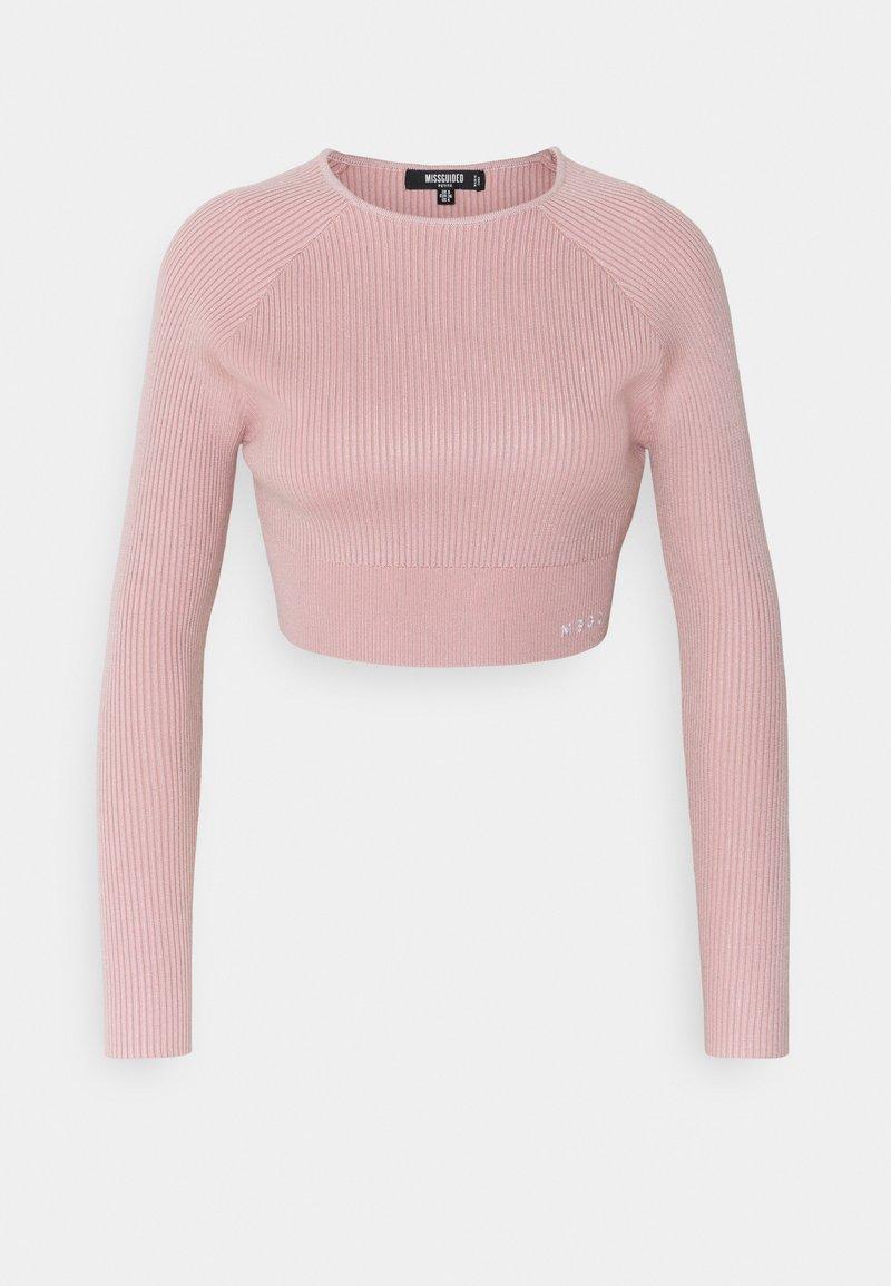 Missguided Petite - LONG SLEEVE - Long sleeved top - pink