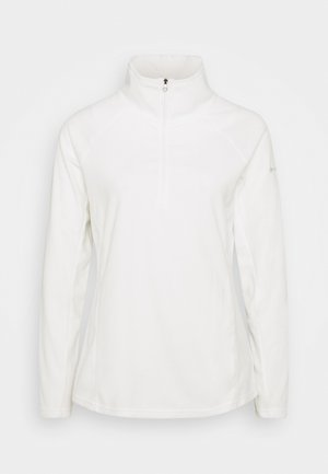 GLACIAL 1/2 ZIP - Felpa in pile - sea salt
