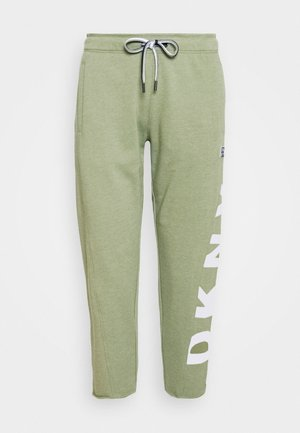 CUT OFF LOGO CROPPED SLIM FIT JOGGER - Tracksuit bottoms - olive