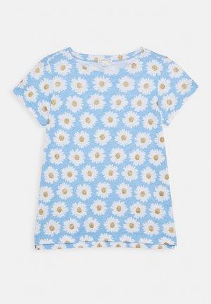 ALL OVER DAISY TEE - Camiseta estampada - blue/gold
