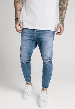 SIKSILK DROP CROTCH  - Vaqueros pitillo - stone blue denim