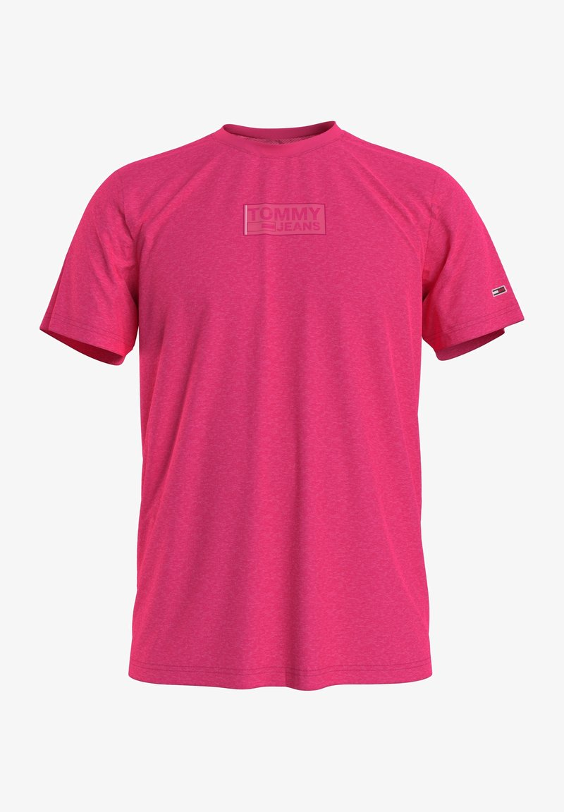 Tommy Jeans - T-shirt med print - pink