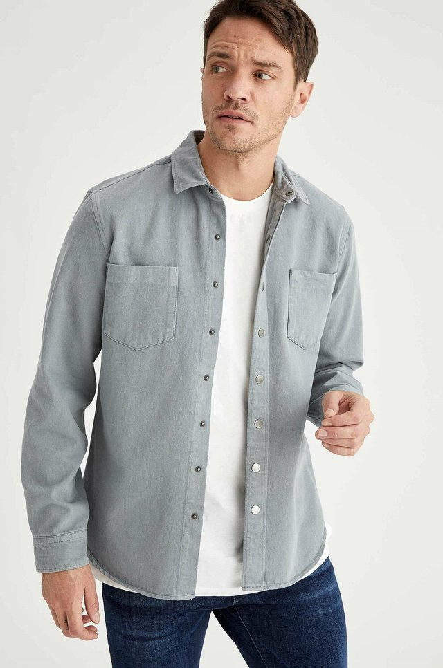 OVERSHIRT - Overhemd - grey