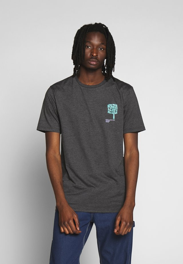 GROWN - Print T-shirt - anthracite