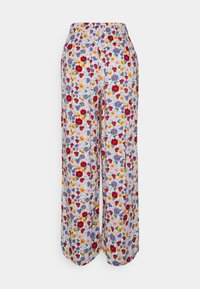 Gina Tricot - DISA TROUSERS - Trousers - white/pink/blue - 1
