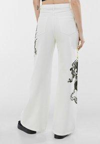 Bershka - Trousers - white - 2
