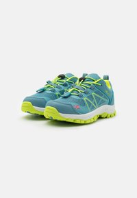 TrollKids - KIDS SANDEFJORD LOW UNISEX - Hiking shoes - dolphin blue/lime - 1