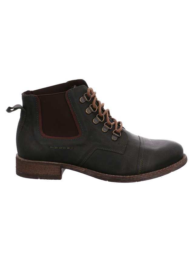 SIENNA 09 - Lace-up ankle boots - oliv/kombi