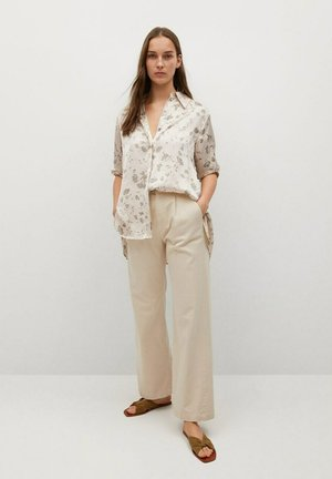 Button-down blouse - olivengrün