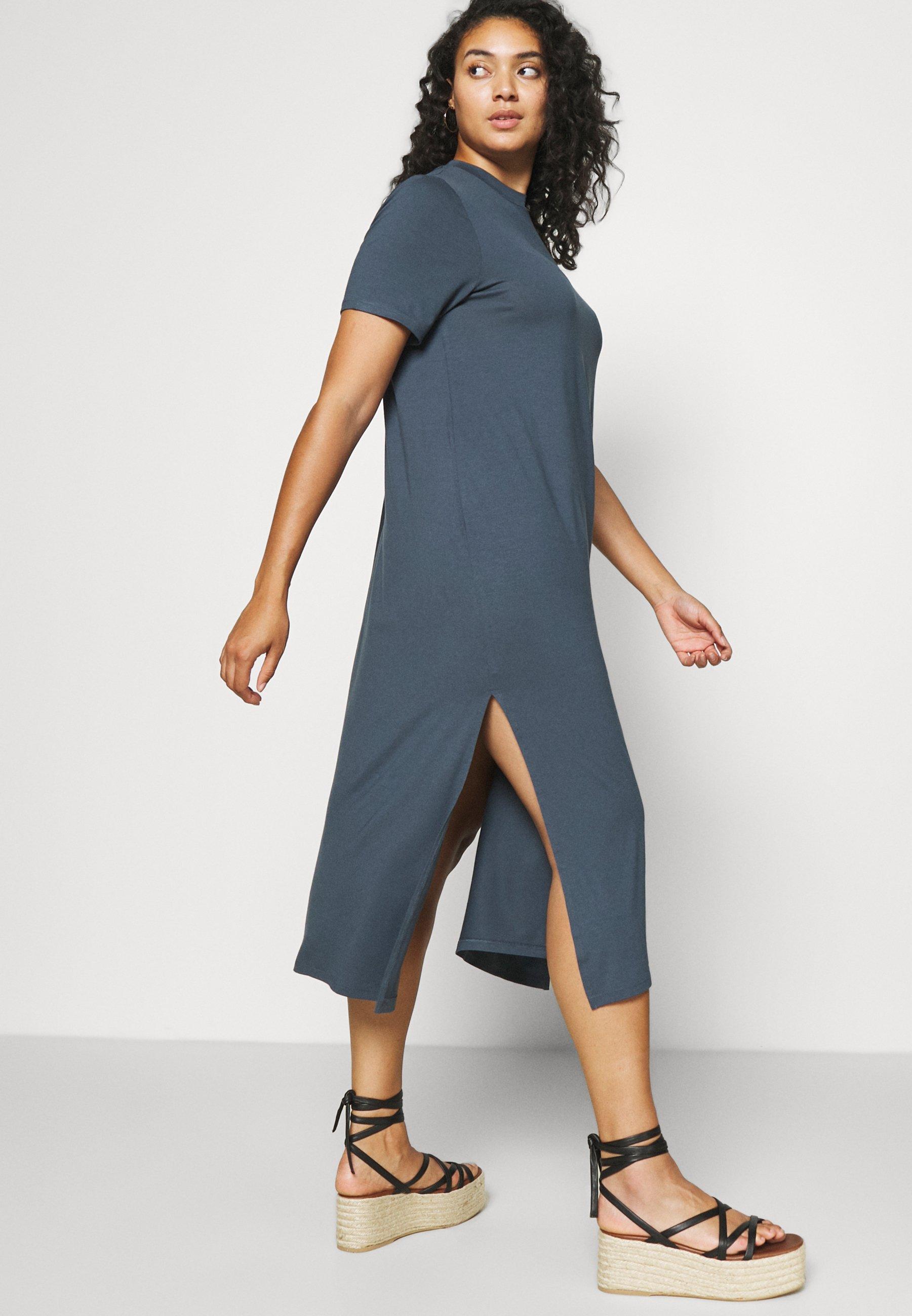 Donna MIDI DRESS WITH SIDE SPLIT - Vestito estivo