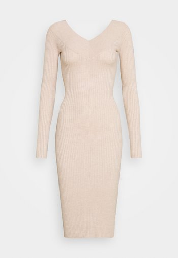 Shift dress - light tan melange