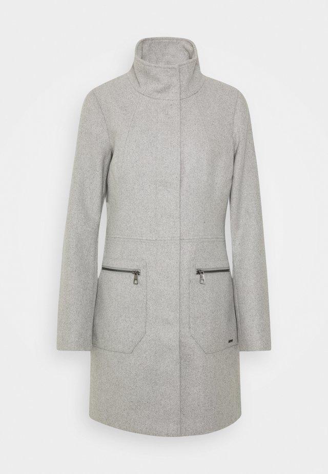 Short coat - light silver grey mélange