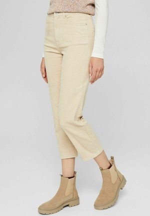 CROPPED HOSE MIT FASHION-FIT - Trousers - beige