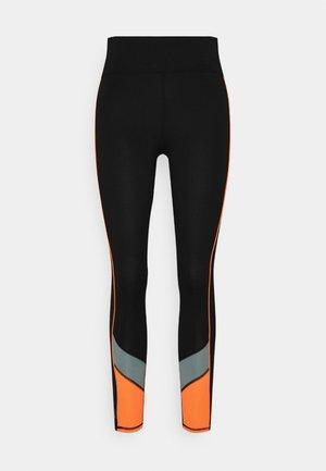 ONPDANDO - Leggings - black/gray mist/sunset orange