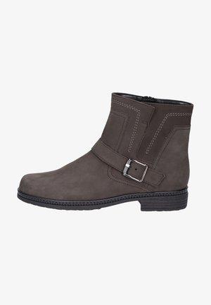 Cowboy/biker ankle boot - grey