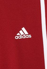 adidas Performance - TRAINING EQUIPMENT STREIFEN UNISEX - Leggings - maroon/white - 4