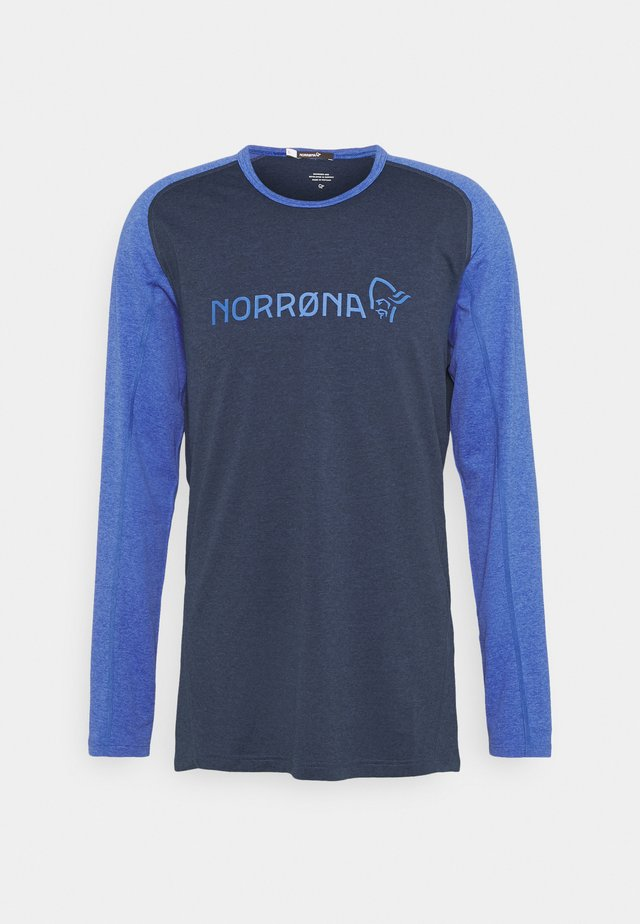 FJØRÅ EQUALISER LIGHTWEIGHT LONG SLEEVE - Långärmad tröja - olympian blue/indigo night