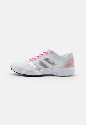 ADIZERO RC 3 - Competition running shoes - footwear white/silver metallic/screaming pink