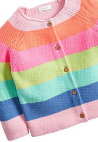 Next - MULTI FLURO RAINBOW STRIPE CARDIGAN (3MTHS-7YRS) - Gilet - pink - 2