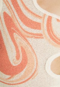 Jaded London - HALTER CUT OUT CROP PRINT - Top - orange/off white - 5