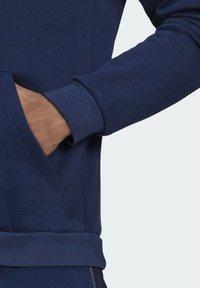 adidas Performance - TIRO  SWEAT HOODIE - Luvtröja - blue - 5