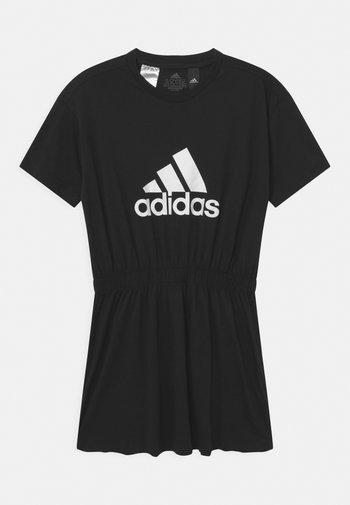 DANCE  - Žerzejové šaty - black/white