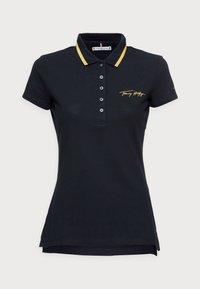 SLIM GOLD SCRIPT - Polo shirt - blue
