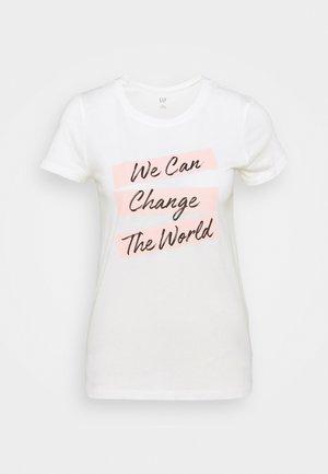 CREW - T-shirt med print - white