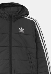 adidas Originals - PADDED UNISEX - Light jacket - black/white - 3
