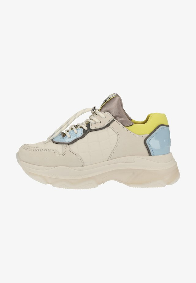 Sneakers laag - o.white/baby blue/lime 3320