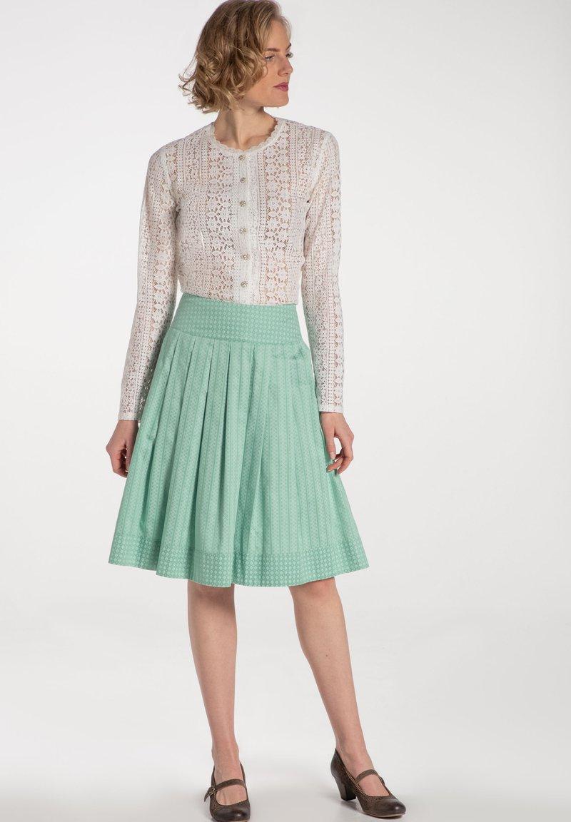 Spieth & Wensky - RUMENA - A-line skirt - grã¼n
