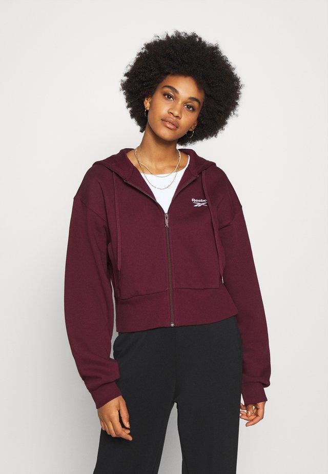 VECTOR HOODIE - Zip-up hoodie - maroon