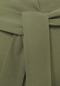 ONLY - ONLCAROLINA BELT PANTS - Trousers - deep lichen green - 2