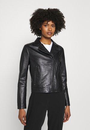 LOVERI - Leather jacket - black