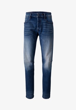 SCUTAR 3D SLIM TAPERED - Jeans Tapered Fit - elto pure stretch denim- antic faded baum blue