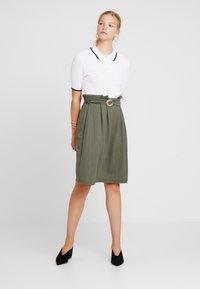 mint&berry - Áčková sukně - khaki - 1